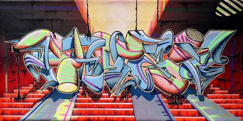 PAT23 - Graffiti Style Leinwand 40x20