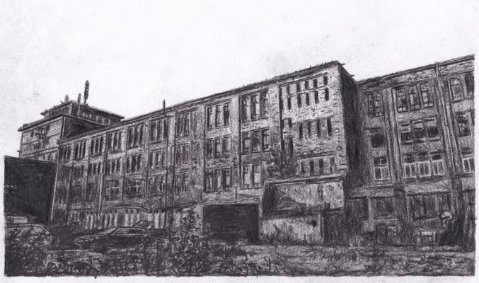 Lost Place Zeichnung - GISAG Werke
