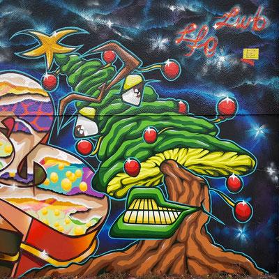 PAT23 - Graffiti Character Tannenbaum - Leipzig 2020