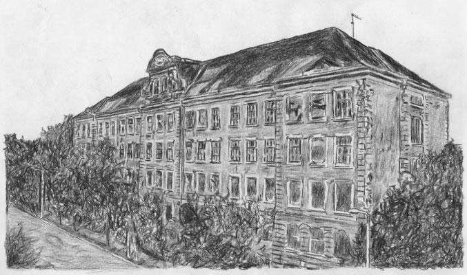 Lost Place Zeichnung - Hermann Liebmann Oberschule II