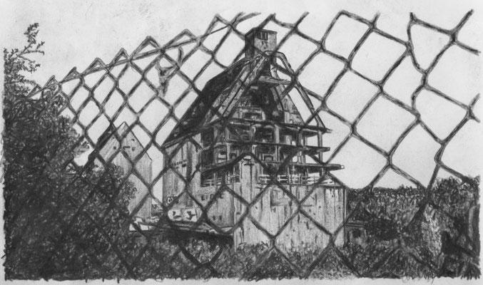 Lost Place Zeichnung - Lindenauer Hafen