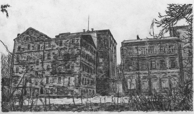 Lost Place Zeichnung - Kunstmühle Zickmantel & Schmidt