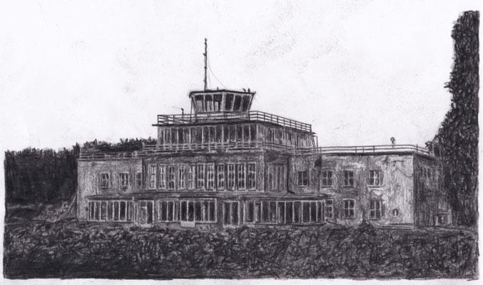 Lost Place Zeichnung - Flughafen Mockau