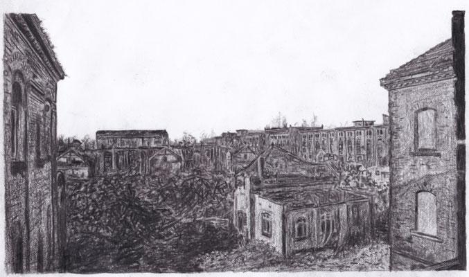 Lost Place Zeichnung - Olbricht Kasernen