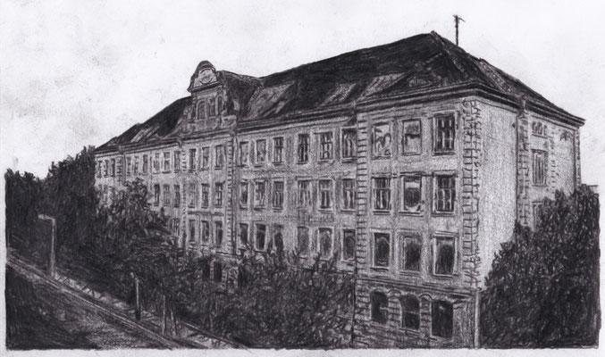 Lost Place Zeichnung - Hermann Liebmann Oberschule I