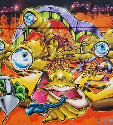 PAT23 - Freestyle Graffiti Character Vielauge - Leipzig 2021