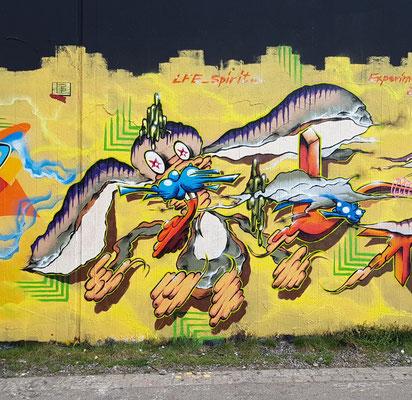 PAT23 - Freestyle Graffiti Character Hase - Leipzig 2021