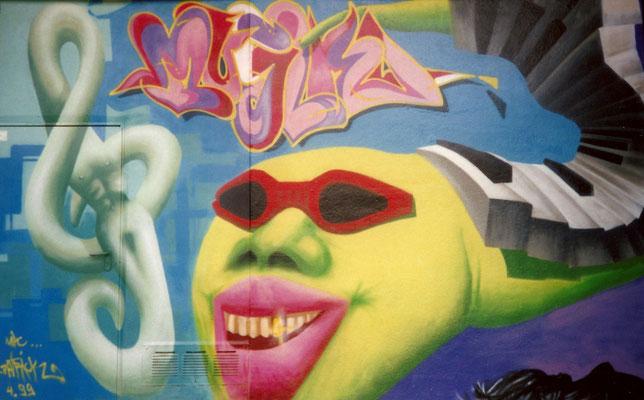 PAT23 - Graffiti Character Ohrwurm - Leipzig 1999