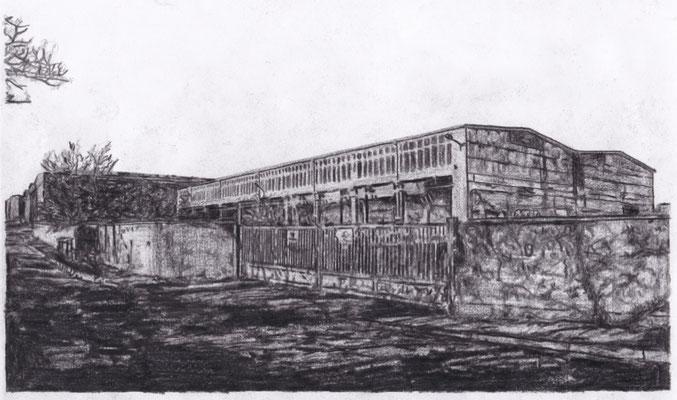 Lost Place Zeichnung - OGEVA Konservenfabrik