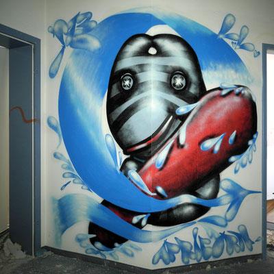 PAT23 - Graffiti Character Steinbock - Leipzig 2010
