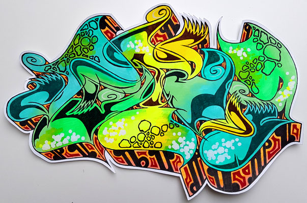 PAT23 - Graffiti Sketch - Marker