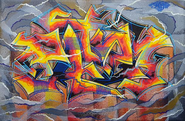 PAT23 - Graffiti Style Leinwand 30x20