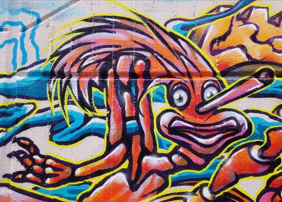 PAT23 - Freestyle Graffiti Character Pinocchio - Leipzig 2021