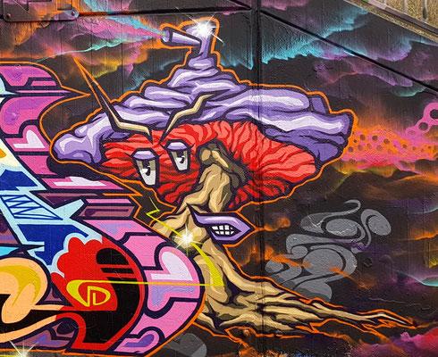 """PAT23 - Graffiti """"Sprüh"""" Pilz - Leipzig 2020"""