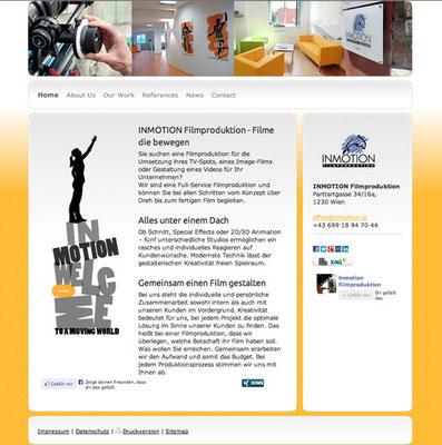 Neuer Webauftritt und CMS Tool, Marketingberatung, SEO, http://www.inmotion-film.com
