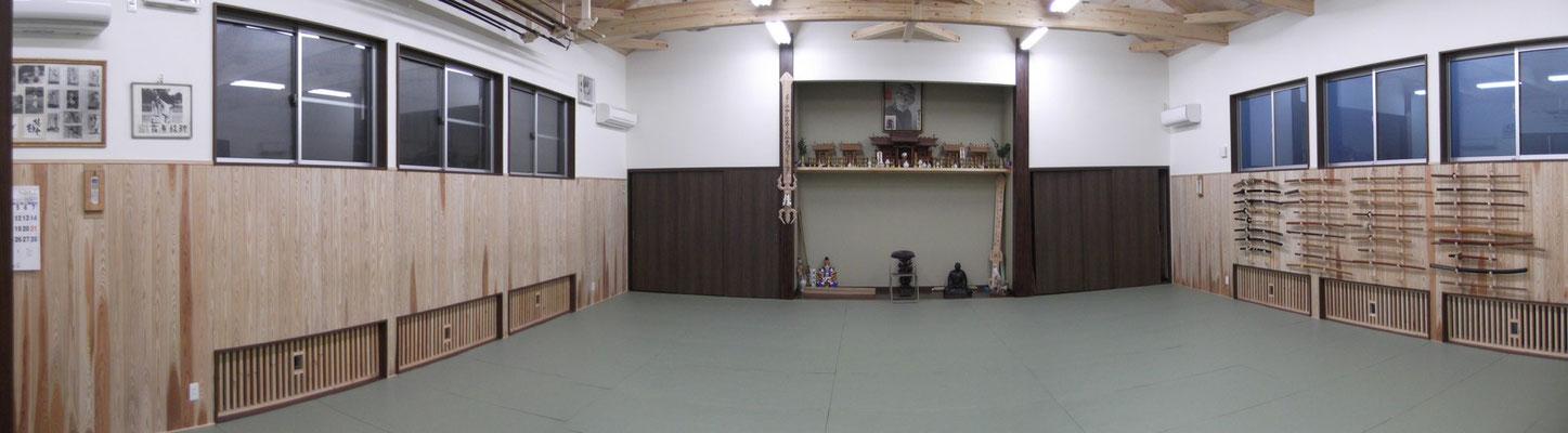 Die Trainingsfläche mit Kamidana