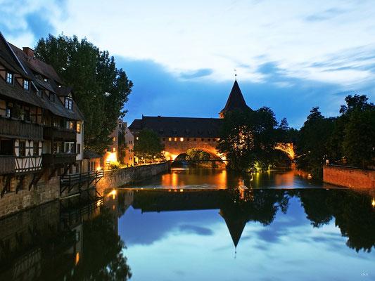 Blick auf Kettensteg, Nürnberg