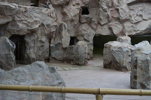 Künstliche Landschaft ohne Elefanten