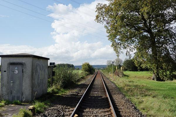 Bahnstrecke in die Baumberge