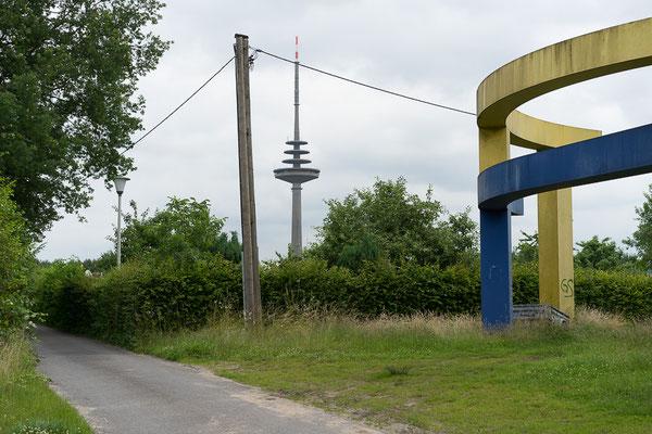 Blick auf den Fernsehturm von Münster
