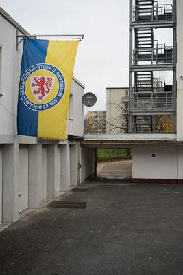"""Eintracht Braunschweig mit dem Motto """"Wir sind Eintracht""""."""