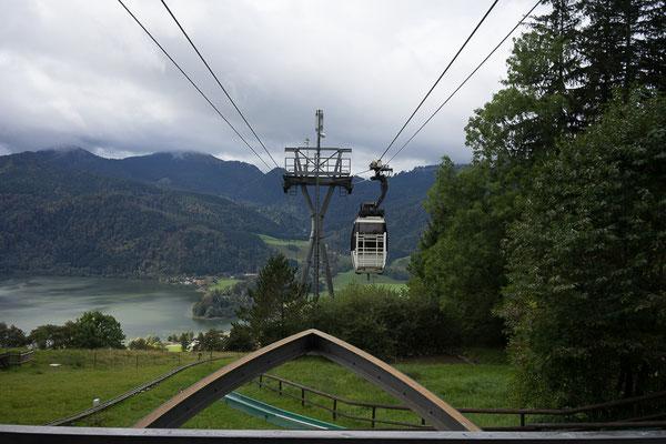 Seilbahn-Gondel auf dem Weg zur Schliersberg-Alm