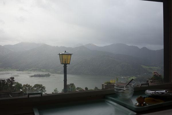 Blick aus dem Restaurant der Alm