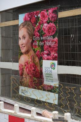 Werbung für die letztjährige Landesgartenschau in Eutin