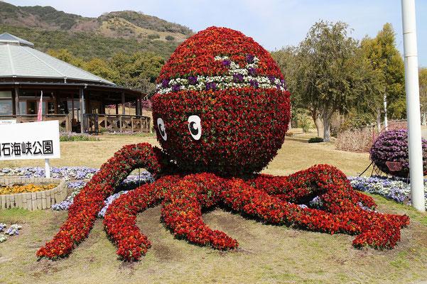 花で作ったタコ(明石タコ)