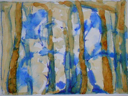 Bäume, Tinte und Sepia 2015