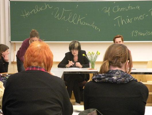 Prof. Christina Thürmer-Rohr referierte am 19.03.2016 an der TU Dresden