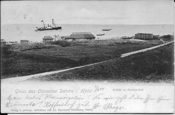 Strandbereich um 1900