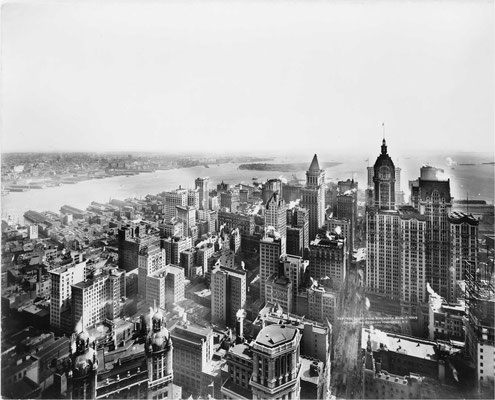 Aussicht vom Woolworth Tower 1913