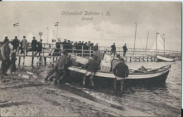 Ausschifen von Gästen (vor 1911)