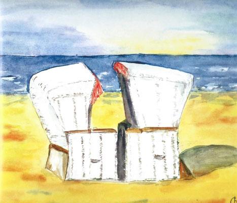 7 - die euinsamen Strandkörbe