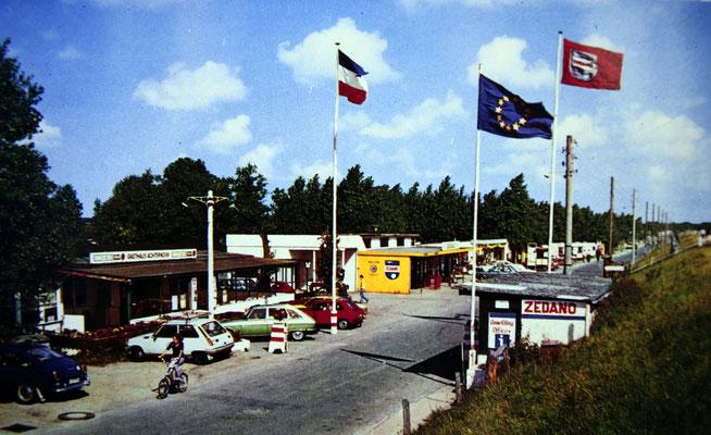 Einfahrt zum Zeltplatz Zedano, etwa 1962