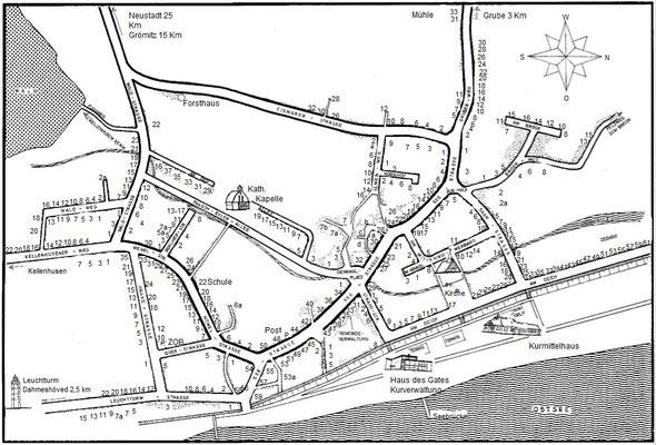 1968 Ortsplan im Gastgeberverzeichnis