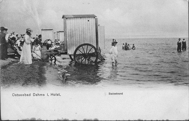 Badekarren in den 1890-ern