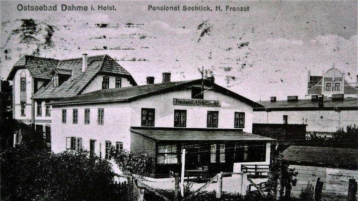 """Kobergers Pension """"Seeblick"""" und die Pension Schiedlowski (davor), 1914"""