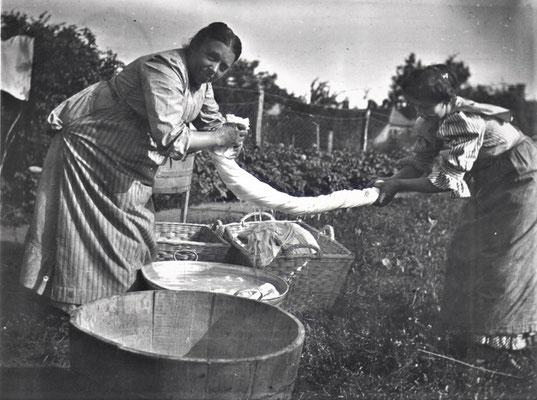 Wäscherinnen - gutes Personal war wichtig für die Pensionen