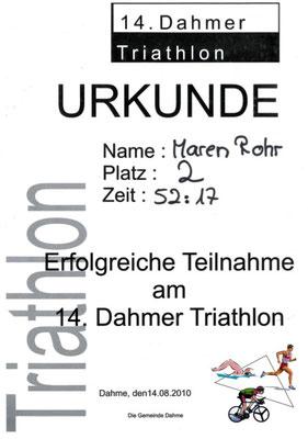 14. Dahmer Triathlon 2010
