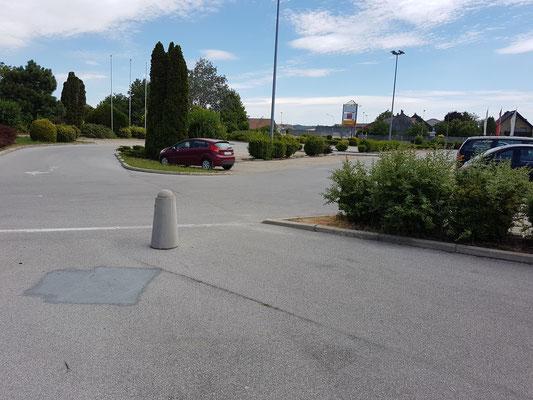 ungenützte versiegelte Parkflächen in Korneuburg