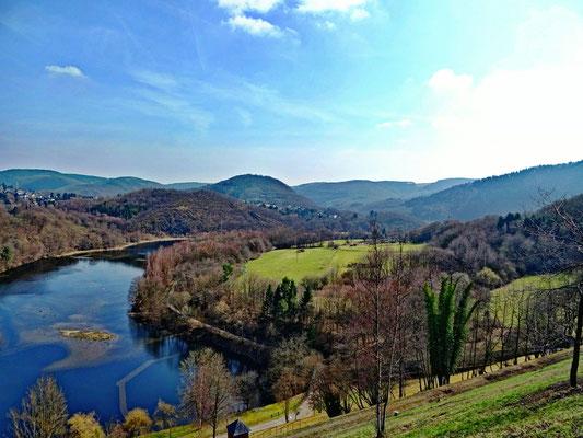 Staubecken Heimbach - Aussicht von Schwammenauel