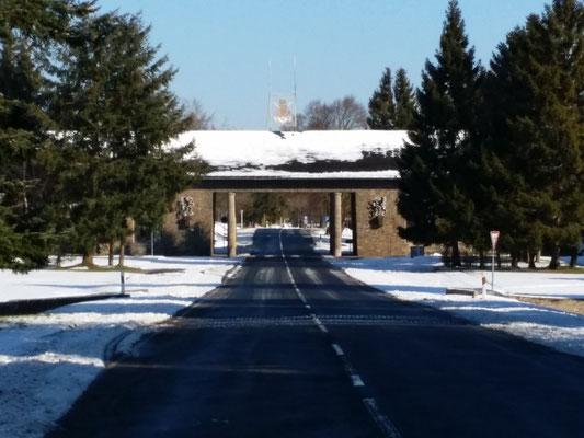 NS-Ordensburg Vogelsang - Malakoff, die Einfahrt zur Ordensburg