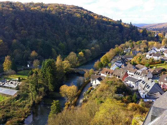 Aussicht von Burg Hengebach in Heimbach