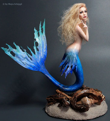 "OOAK Mermaid ""Angely"" - about 9 inch (23 cm)"