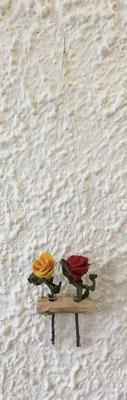 Vaseast klein mit 2 Eprovetten