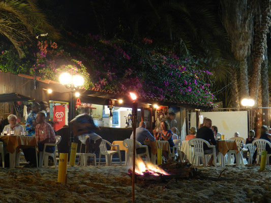 Restaurant on the beach.