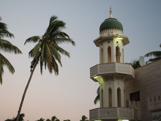 Mosque in Salalah by sunset