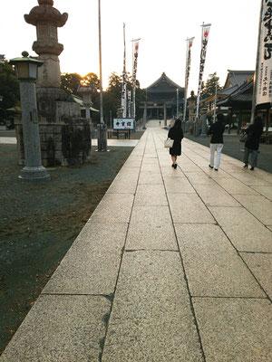 メインの道を歩く歩く。